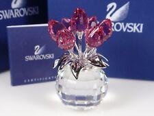 SWAROVSKI CRYSTAL FLOWER, ROSE TULIPS RETIRED 2010 MIB #626874