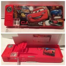 Disney Pixar Cars 2 With Keychain Birthday Gift Cartoon Stationery Pencil Case