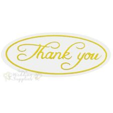 50x Silver or Gold Thank You Envelope Stickers Seals for Wedding Invitations Gold
