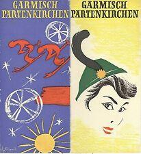 VINTAGE TRAVEL BROCHURE~GARMISCH PARTENKIRCHEN GERMANY