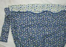 Laura Ashley Blue Gingham Priory Floral Fabric Shower Curtain +Valance +Tie Back