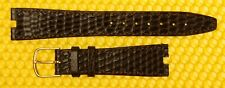 "18mm (4mm cut-out) GUCCI ""3400M"" Real-lizard Leather BROWN Watch Strap Band"