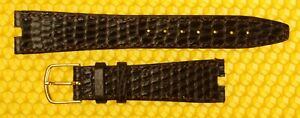 """18mm (4mm cut-out) GUCCI """"3400M"""" Real-lizard Leather BROWN Watch Strap Band"""
