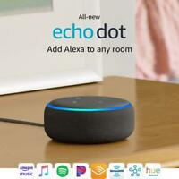 Amazon Echo Dot Latest 2018 (3rd Generation) Smart speaker Alexa  - Black