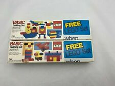 2- LEGO Basic Building Sets #1560 & #1562  New in Box