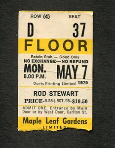 1979 Rod Stewart Concert Ticket Stub Toronto Canada Blondes Have More Fun