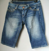 Pantaloni corti PINOCCHIETTO di jeans donna L 44 sopra ginocchio bermudas