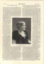 1895 Liberty Hall As Presented At Balmoral Miss Genevieve Ward Interview