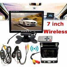 """New 7"""" TFT Monitor Waterproof Car Rear View Night Vision Backup Camera System"""