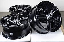 16 4x100 4x114.3 Black Rims Fits Lancer Scion Xa Xb Cobalt Corolla Jetta Wheels