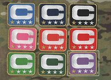 NFL TEAM LEADER JERSEY CAPTAINS PATCH ONE-STAR 1-STAR PURPLE CAPTAINS C-PATCH