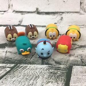 Disney Tsum Tsum Vinyl Mini Figures Lot Of 7 Genie Iron Man Pluto Chip & Dale