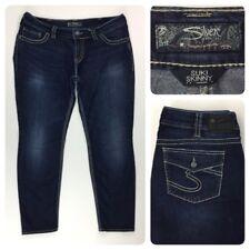 Silver Woman Suki Skinny Flap Pocket Dark Wash Jeans W35 L29