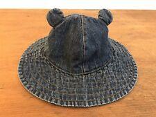 Baby Gap Blue Denim Boonie Bush Bucket Hat with Ears Size 0-6 Months ( 63e5ce525935