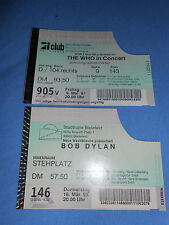 Bob Dylan Ticket Konzertkarte Bielefeld 1995