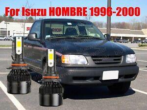 LED For HOMBRE 1996-2000 Headlight Kit 9006 HB4 6000K White CREE Bulbs Low Beam