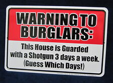Warning Shotgun *US MADE* Embossed Metal Tin Trespass Warning Sign - Garage Shop