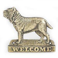 Neapolitan Mastiff - brass tablet with image of a dog, Art Dog Usa