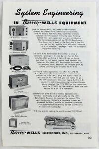 Vintage 1955 HARVEY WELLS Bandmaster Transmitter Ham Radio Print Ad