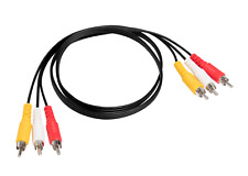 3 FT Premium 3 RCA Composite Extension Audio Video AV Cable Yellow Red White