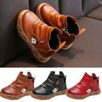 Toddler Kids Baby Boys Winter Cartoon Warm Waterproof Zipper Short Boots Shoes