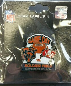 Tampa Bay Buccaneers VS Chicago Bears GAME DAY PIN 11/23/14 Free Shipping