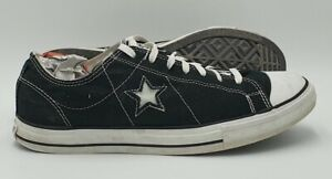 Converse Chuck Taylor One Star Low Canvas Trainer 103639FT Black UK12/US12/E46.5