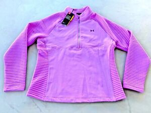 Under Armour Women's Storm ColdGear Fitted Top Large - Pink