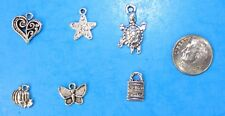 6pcs Tibet Silver Pendants LOT #12 Mixed Crafts Jewelry Making Charms