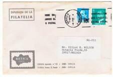 Sobre circulado Sevilla-Málaga. Filatelia Bética