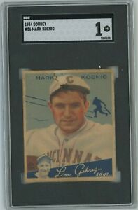 1934 Goudey Mark Koenig #56 SGC 1 Poor