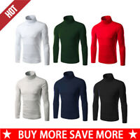 Winter Warm Men's High Collar Turtle Neck Skivvy Long Sleeve Sweater Tops