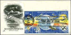 US FDC #1919a Plate # Block Artcraft Severe #2S1 Cachet Kennedy Space Center, FL