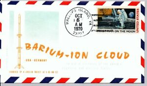 USA - GERMANY BARIUM ION CLOUD, LAUNCHED BY JAVELIN ROCKET 10/5/70 WALLOPS IS.