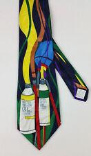 Fratello Mens Neck Tie Oil Paint Tubes Art Teacher Artist Painter Gift New