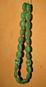Vintage necklace of skulls handmade Very rare condition made in Egypt