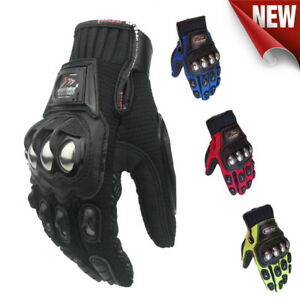Stainless Steel Armour Motorcycle Gloves Sport Motorbike Racing Street MAD-10B