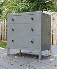 Mid Century Atomic Metal 3 Drawer Dresser Chest Norman Bel Geddes Industrial vtg