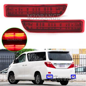 LED Rear Bumper Brake Light Stop Lamps For Toyota Avensis T27 Alphard H2 RAV4 A3