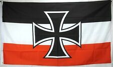 Big 1.5 Metre Imperial German Navy Large New Flag 3x5ft WWI Germany Jack Ensign