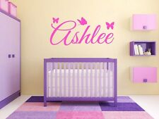 "Butterfly Name Monogram Wall Decal #4 15"" Tall"