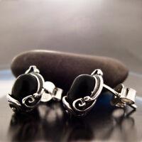 Onyx Silber 925 Ohrringe Damen Schmuck Sterlingsilber S179