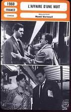 L'AFFAIRE D'UNE NUIT - Petit,Verneuil(Fiche Cinéma) 1960 - It Happened All Night