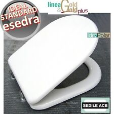 NUOVO SEDILE ASSE COPRI WC ESEDRA IDEAL STANDARD MARCA ACB ERCOS GOLD ITALY