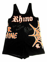 WWE TNA ECW RHINO RING WORN SINGLET HAND SIGNED WITH PICTURE PROOF AND COA 2