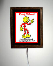 Reddy Kilowatt Electrician Utility Tools Electrical Company Light Lighted Sign