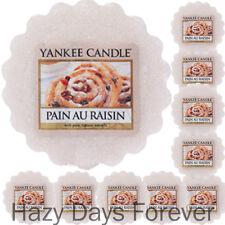 10 YANKEE CANDLE WAX TARTS Pain Au Raisin MELTS cinnamon & vanilla tartlets