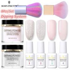 8Pcs BORN PRETTY Nail Dipping Powder System Liquid Nail Brushes Starter Kit