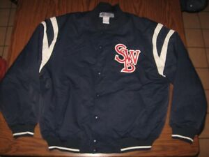 VTG 90s SCRANTON Wilkes-Barre RED BARONS MINOR LEAGUE Baseball Russell Jacket XL