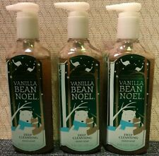 Bath Body Works VANILLA BEAN NOEL Deep Cleaning Hand Soap   Lot of 3